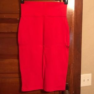 Red Express pencil skirt!